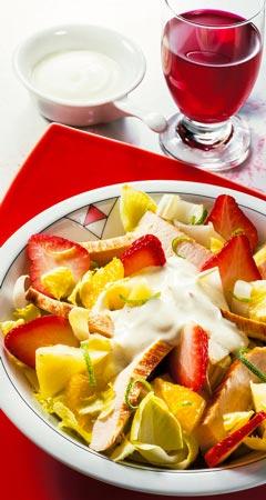 Mittagessen - Exotischer Geflügelsalat