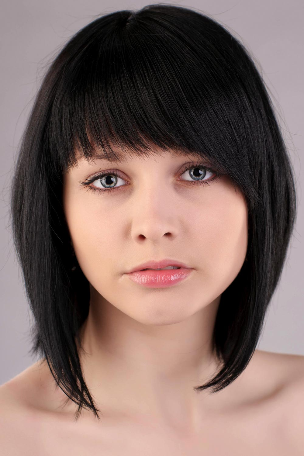 long bob mit pony bob frisuren mit pony