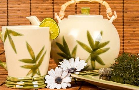 Grüner Tee gegen Falten