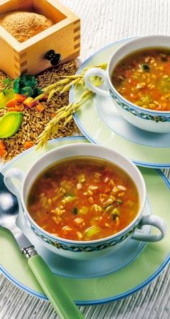 Abendessen - Gemüsesuppe mit Hafer