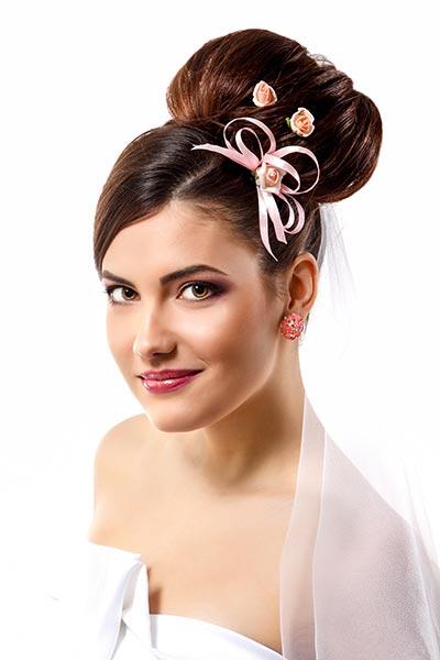 Haarschmuck für Braut und Hochzeit - Zarte Rosen-Curlies