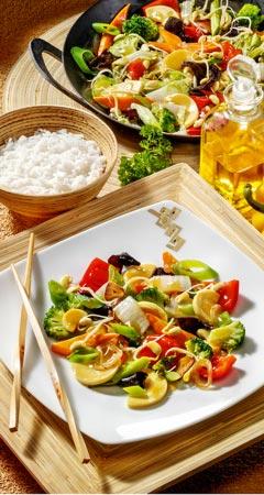Asiatische Gemüsepfanne mit Chinakohl