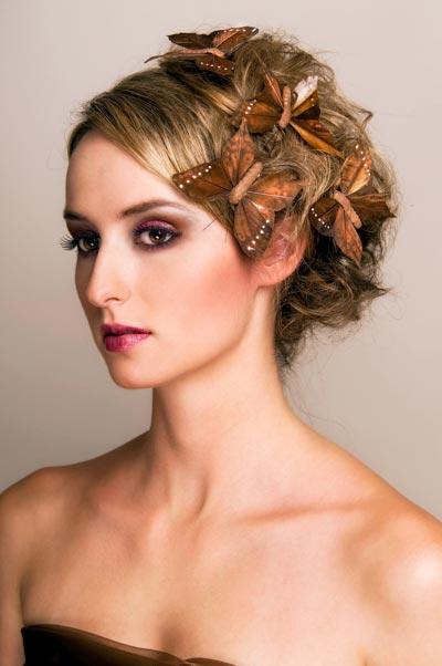 Haarclips mit Schmetterlingen