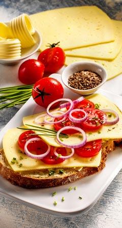 Frühstück - Pikantes Käsebrot