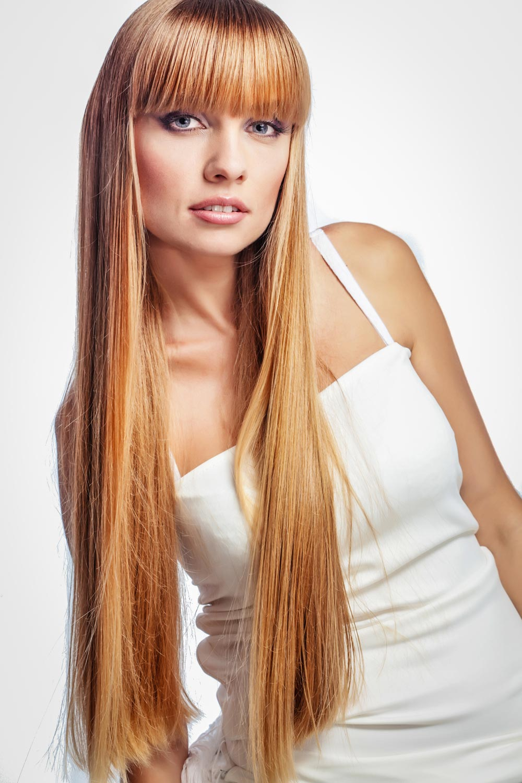 Frisuren lange haare mit geradem pony