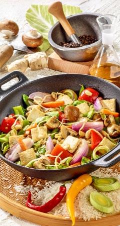 Wok-Gemüse mit Tofu