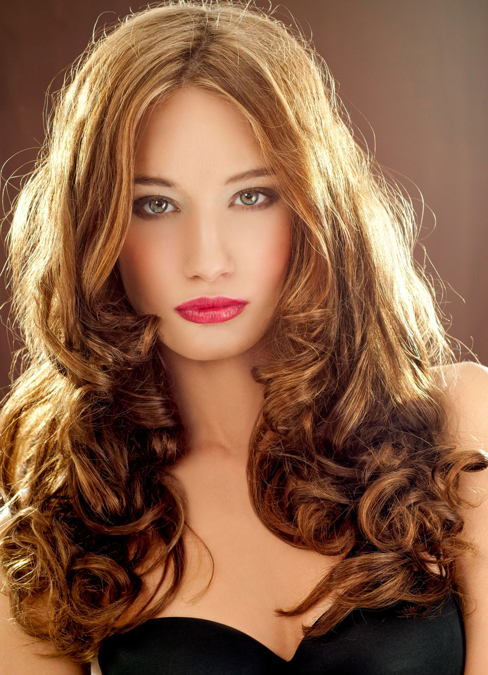 Frisur lange haare offen locken