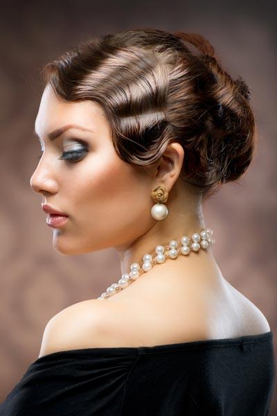 Locker Hochgesteckte Frisur Im 20er Jahre Style Festliche Und