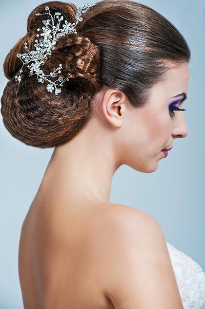 Haarschmuck für Braut und Hochzeit - Funkelnder Haarkamm zur Hochzeit