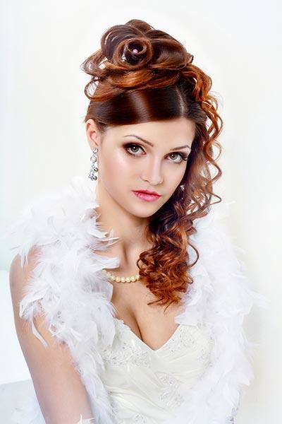 Erlesene Locken Zur Hochzeit Hochzeitsfrisuren Brautfrisuren Fur