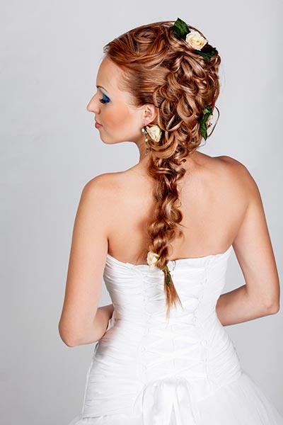 Lockiger Zopf Frisuren Fur Die Hochzeit