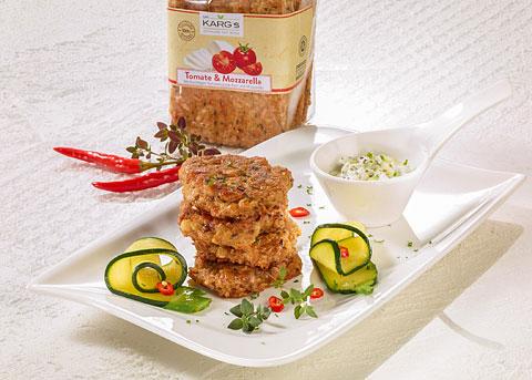 Detox-Diät - Kur 1. Tag: Mittagessen - Veggie-Burger mit Joghurt-Dip