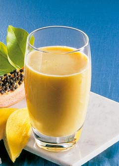 Buttermilch-Diät - 5. Tag: Zwischenmahlzeit - Mango Buttermilch