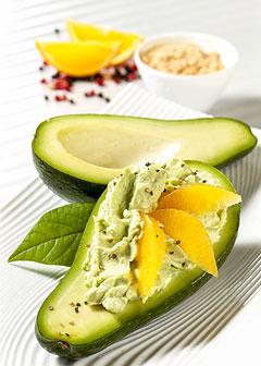 Detox-Diät - Kur 7. Tag: Abendessen - Gefüllte Avocado mit Orangenfilets