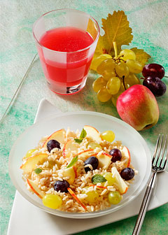 Detox-Diät - Kur 1. Tag: Abendessen - Fruchtiger Reis mit Trauben