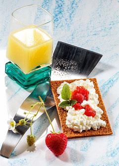 Molke-Kur 4. Tag: Frühstück - Molkedrink mit Knusper-Knäcke