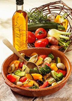 Molke-Kur 5. Tag: Mittagessen - Mediterrane Gemüsepfanne