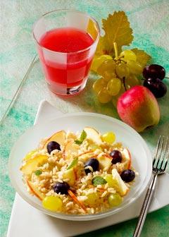 Gesunde vegetarische Diät - Mittagessen: Früchtereis
