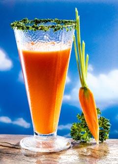 Gesunde vegetarische Diät - Zwischenmahlzeit: Vitamindrink