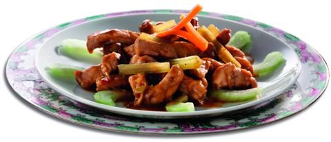 Chinesische Rezepte: Sellerie und Schweinefleisch