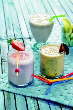 Erdbeer Milchshake, Bananen Milchshake, Vanille Milchshake