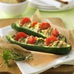 zu einfache Kochrezepte - Gebackene Zucchini-Schiffchen
