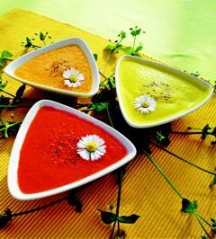 Kalte Gemüsesuppe - Gazpacho