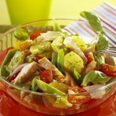 Leckere Salate: Grüner Bohnen-Kartoffelsalat mit Pute