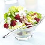 weiter zu leckere Salate - Salatherzen mit Himbeeren
