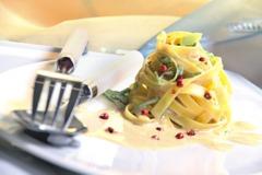 Rezepte vegetarisch: Bandnudeln mit Lauchsauce