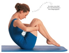 Pilates Übungen Bauch: Rollen wie ein Ball