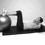 Übungen für Bauchmuskeln für zuhause - Crunch Übung für gerade Bauchmuskeln