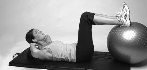 Crunch Übung für gerade Bauchmuskeln