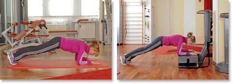 Skigymnastik Übung 6 – unterer Bauch