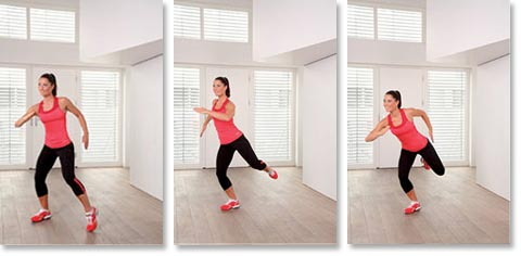 Cardio Training Übungen - Wide Run: Stufe 1 bis 3