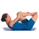 weiter zur Pilates-Übung - Dehnung mit einem Bein