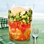 weiter zu - Salatcocktail mit Kartoffeldressing