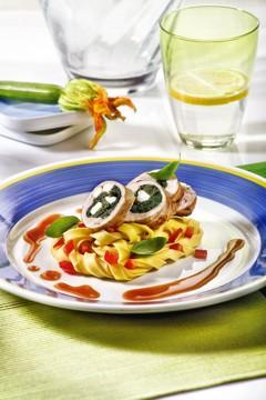 Gesund kochen mit Histaminintoleranz Rezepte: Basilikum-Putenrouladen