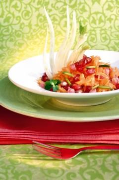Basenfasten Rezepte - Granatapfel-Karotten-Fenchel-Salat