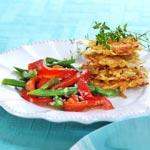 weiter zu - Grüne Bohnen mit roten Paprika
