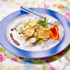 Histaminintoleranz Rezepte: Kartoffel-Blini mit Eisberg-Mais-Salat