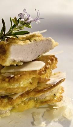Gesund kochen: Schweinefilet mit Parmesanhülle