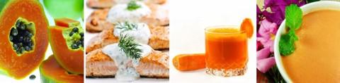 Tabelle mit Lebensmitteln mit Provitamin A / Beta Carotin
