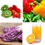 weiter zu - Obst, Früchte und Gemüse mit Vitamin C
