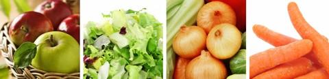 Basische Lebensmittel - Tabelle / Liste für alle Jahreszeiten, meist regional