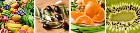 Basische Lebensmittel - Tabelle / Liste für alle Jahreszeiten, importiert