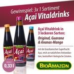 zur Gewinnspiel-Verlosung - BioAmazon Acai Vitaldrinks