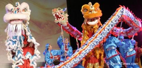 China Kultur: Bräuche zum chinesischen Neujahrsfest - Drachen- und Löwentänze haben den Sinn, eine gute Ernte zu fördern