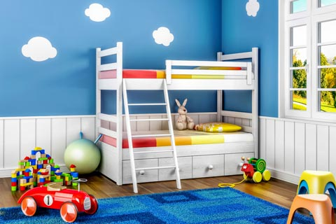 farbgestaltung f r kinderzimmer ideen farben f r. Black Bedroom Furniture Sets. Home Design Ideas