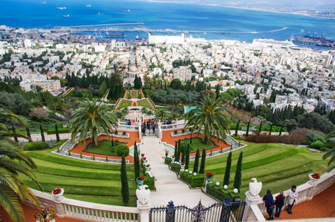 Reiseziele für Urlaub in Israel - Persischer Garten in Haifa